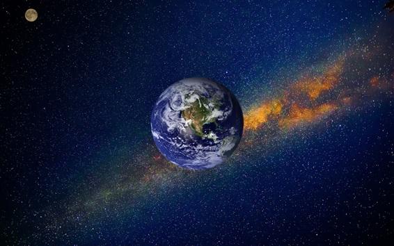Fond d'écran Terre, espace, nébuleuse, univers, étoilé