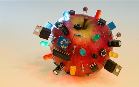 Wallpaper Electronic component, red apple