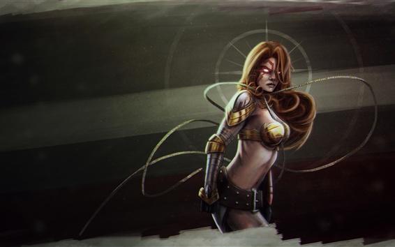 Fond d'écran Fantasy fille, guerrier, armure