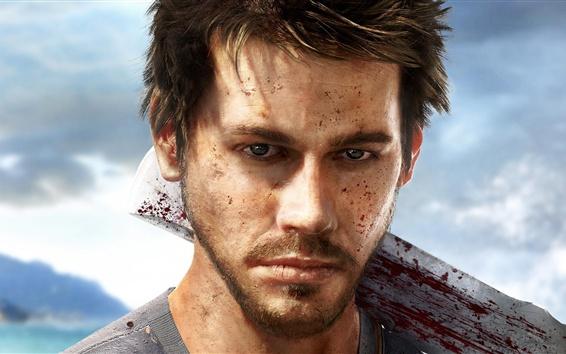 Fondos de pantalla Far Cry 3, hombre, cuchillo, sangre