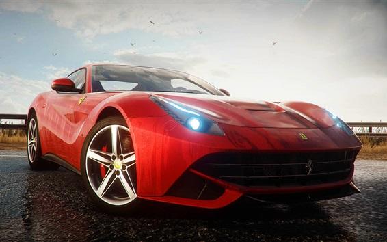 Fondos de pantalla Ferrari F12 rojo supercar, Need for Speed