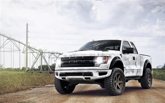 Обои Белый камуфляж Ford Raptor