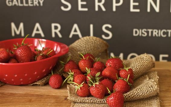 Papéis de Parede Bacia de frutas, morango