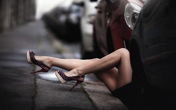Wallpaper Girl legs, shoes