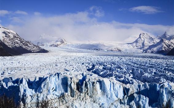 Wallpaper Glacier, Argentina, snow, mountains
