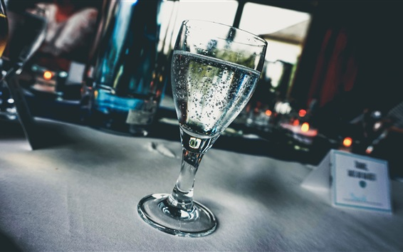 Wallpaper Glass cup, drinks, bubbles