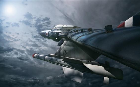 Wallpaper Gloster Javelin FAW.9R Military Airplane, Night Hunter