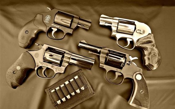Fond d'écran Pistolets, balles, arme