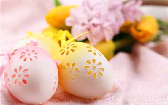 Wallpaper Hollow eggs, Easter, decoration