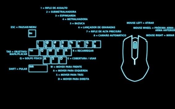 Wallpaper Keyboard and mouse, digital