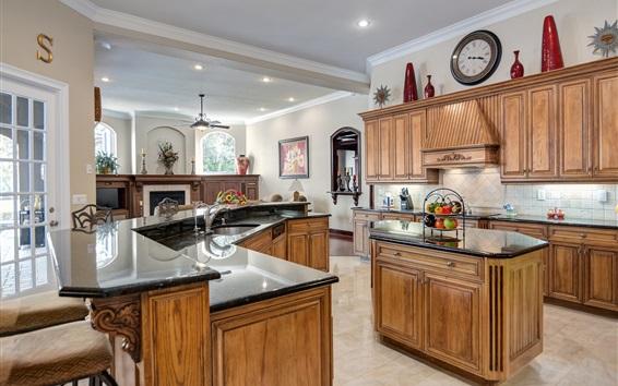 Wallpaper Kitchen design, furniture, retro style