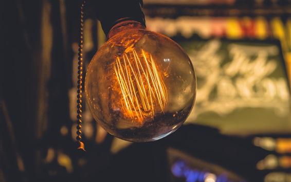 Fond d'écran Lampe d'éclairage, lumière chaude