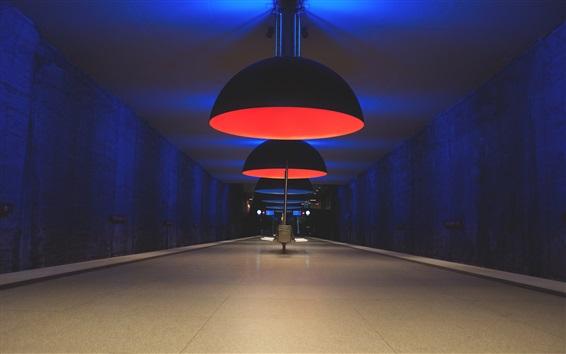 Wallpaper Lamps lighting, hall, night