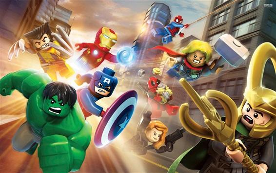 Обои Лего, супергерои Marvel