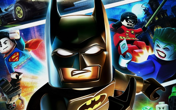 Wallpaper Lego movie, batman, superman