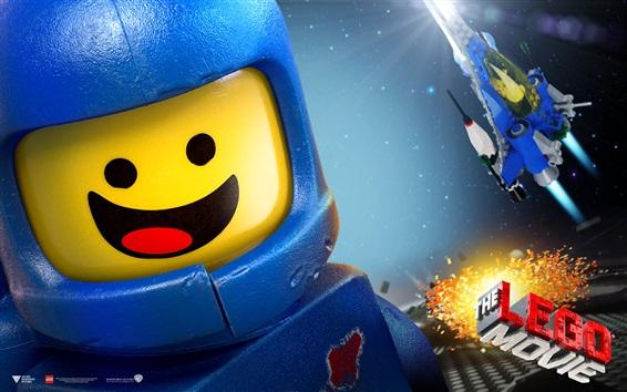 Fondos de pantalla Película de Lego, nave espacial, chico feliz