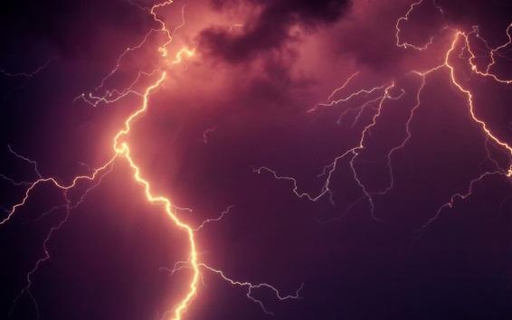 Wallpaper Lightning, sky, cloudy, storm