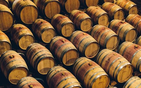 Fond d'écran Beaucoup de barils, entreposage de boissons