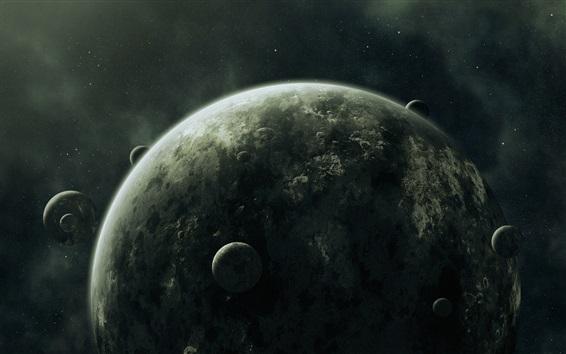 Papéis de Parede Muitos satélites, planetas
