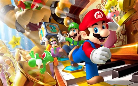 Wallpaper Mario, classic video games