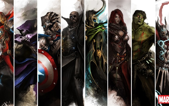 Fond d'écran Marvel superheroes painting art
