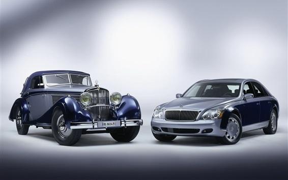 Fond d'écran Maybach deux voitures rétro