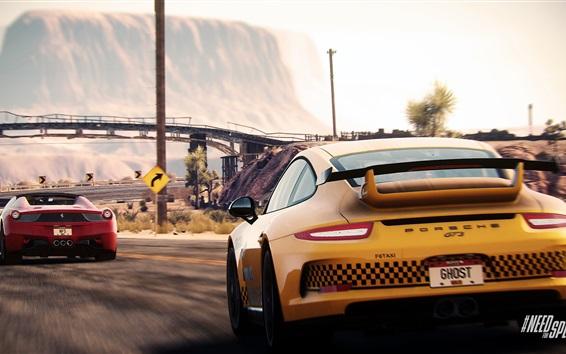 Обои Need For Speed, суперкары Porsche и Ferrari