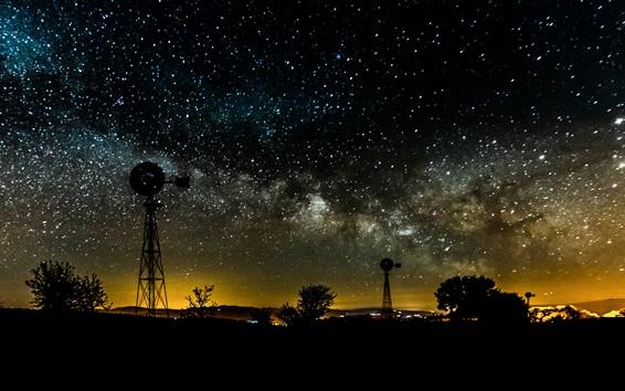 Wallpaper Night, sky, stars, starry