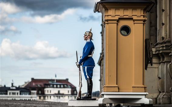 Fondos de pantalla Ciudad Vieja, Estocolmo, soldado
