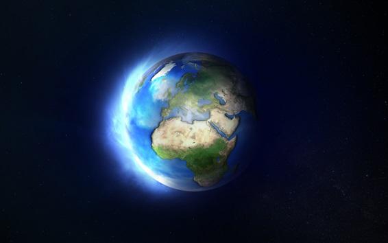 壁紙 私たちの地球、惑星、宇宙、光
