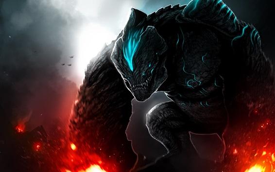 Hintergrundbilder Pacific Rim, Monster, Kunstbild