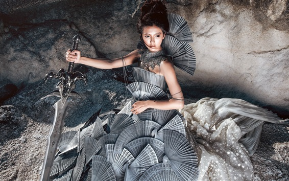 Wallpaper Princess of Iron Fan, sword, Chinese mythology