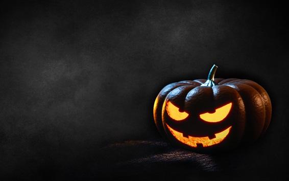 Wallpaper Pumpkin light, Halloween, dark