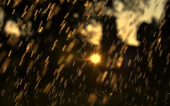 Wallpaper Rain, sunlight