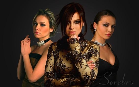Fondos de pantalla Serebro, grupo de tres chicas