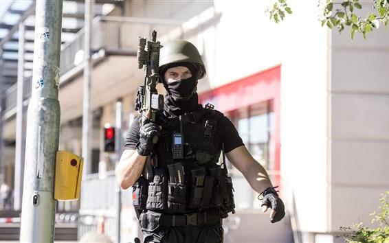 Wallpaper Soldier, uniform, military, assault rifle