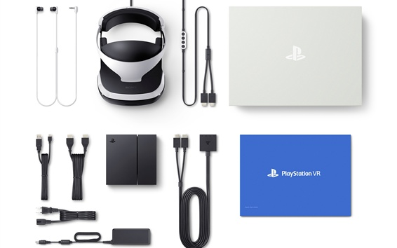 Wallpaper Sony PlayStation VR packing list