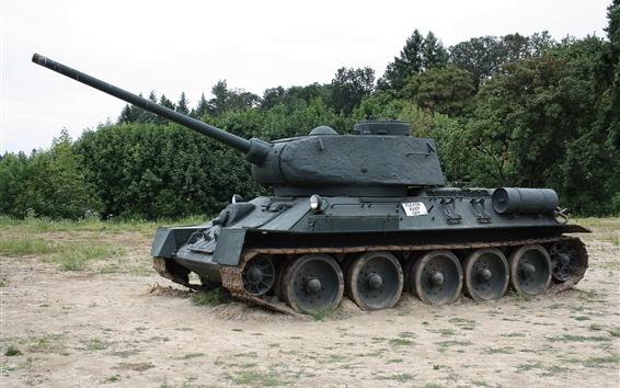 Wallpaper Soviet T-34-85 tank