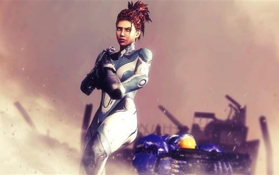 Wallpaper StarCraft 2, Sarah Kerrigan, human
