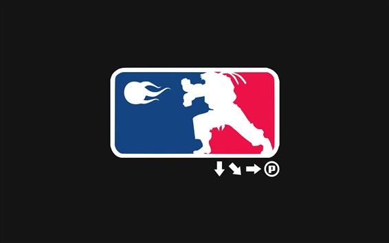 Wallpaper Street fighter league logo, black background