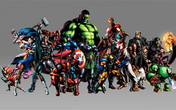 Wallpaper Superheroes, Marvel cartoon