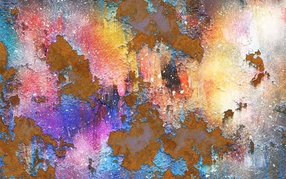 Fond d'écran Peinture de surface, mur, fond de texture, épluchage