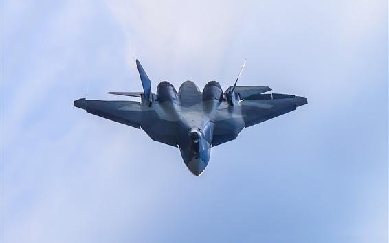 Wallpaper T-50 multipurpose fighter flight