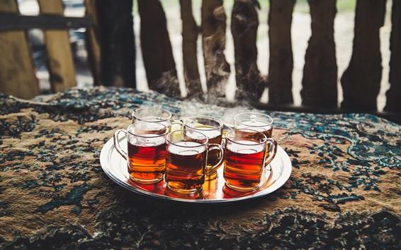 Wallpaper Tea, cups, drinks
