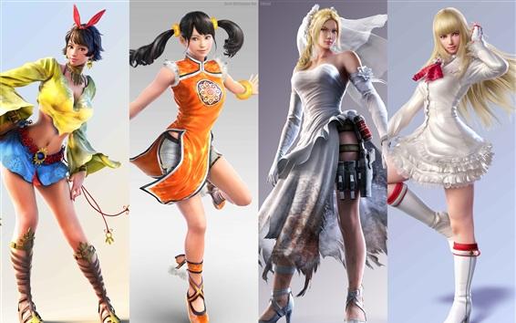 Fondos de pantalla Tekken 7, las niñas hermosas muestran