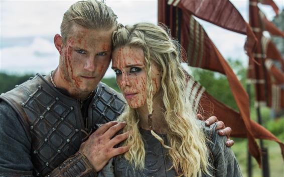 Fondos de pantalla Los Vikingos, Gaia Weiss, Alexander Ludwig