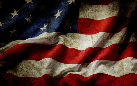 Wallpaper USA flag, dust