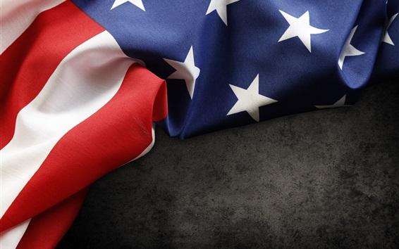 Обои Флаг США, ткань
