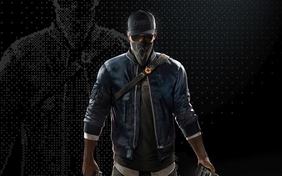 Wallpaper Ubisoft, Watch Dogs 2, mask