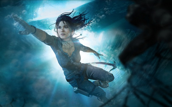 Papéis de Parede Subaquática, Lara Croft, Tomb Raider